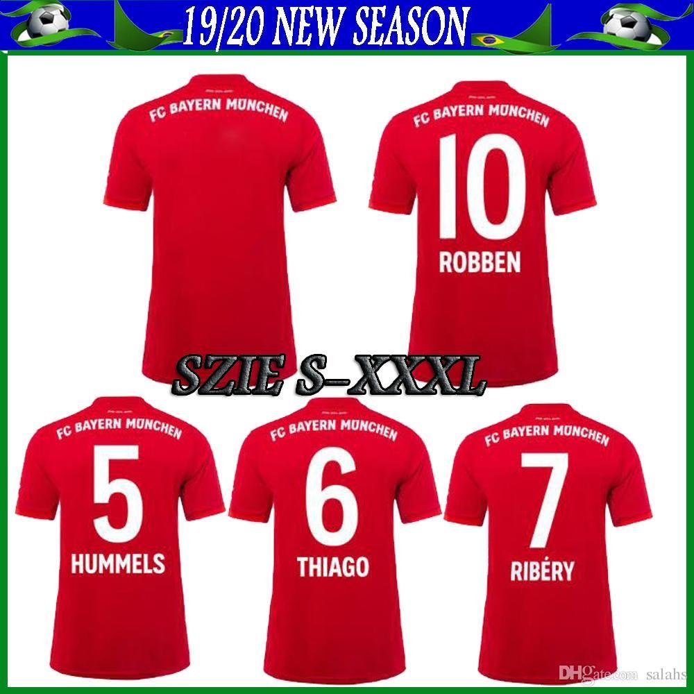 2020 Player Version Bayern Munich Soccer Jersey 19 20 Xxxl Bayern Home Red Soccer Shirt James 11 Muller 25 Robben 10 Football Uniform From Soccer Jersey518 17 91 Dhgate Com