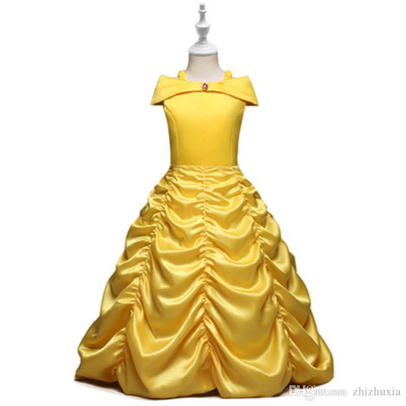New Personality Design Girl's Dress Luxury Hot Sale Children's Dress Christmas Gift Solid Color Party Beautiful Dresses