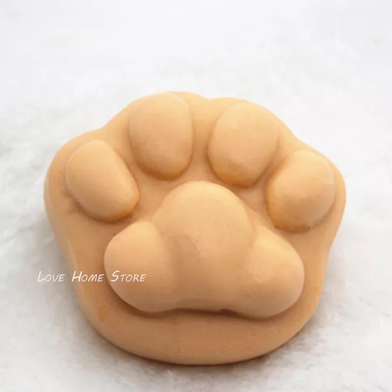 9CM 3D zampa del gatto muffa del sapone del silicone rotondo quadrato della muffa del sapone del silicone della muffa di cottura torta di pan biscotto al cioccolato cubo vassoio torta lavora