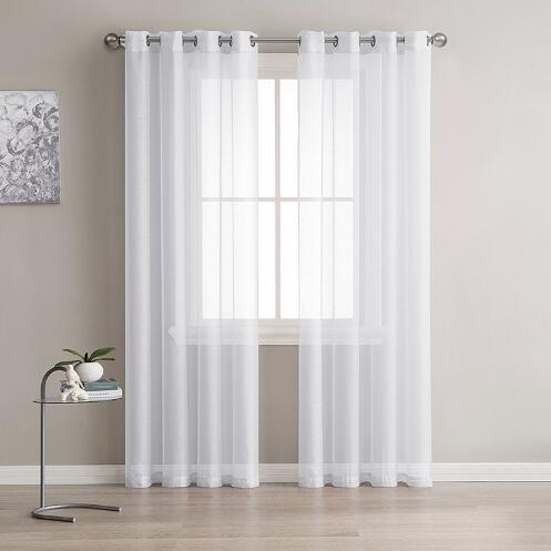 2019 Europe Solid White Yarn Curtain Window Tulle Curtains For Living Room  Kitchen Modern Window Treatments Voile Curtain P184Z40 From Sophine11, ...