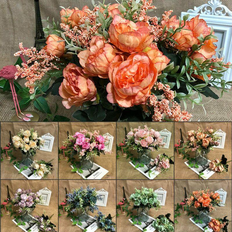 Home Decor 5 Heads Artificial Fake Peony Silk Flower Bridal Hydrangea Home Wedding Decor Uk Home Furniture Diy Omnitel Com Na