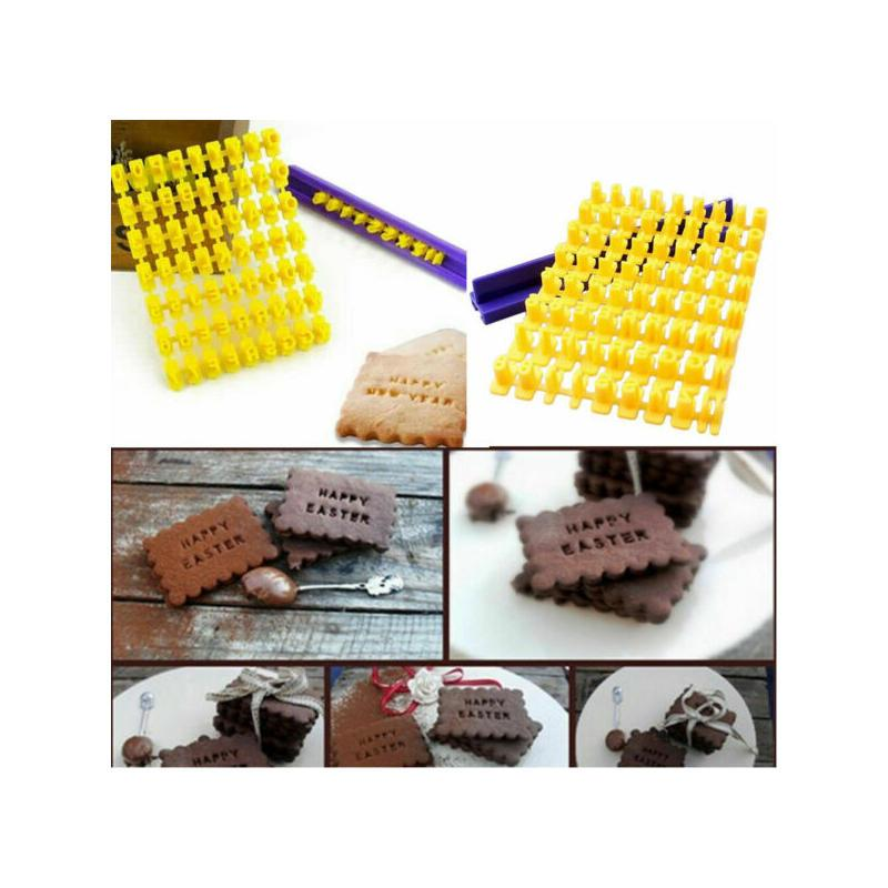Creative Plastic Mini Alphabet Number Letter Cookie Biscuit Stamp Cutter Embosser Cake Mould