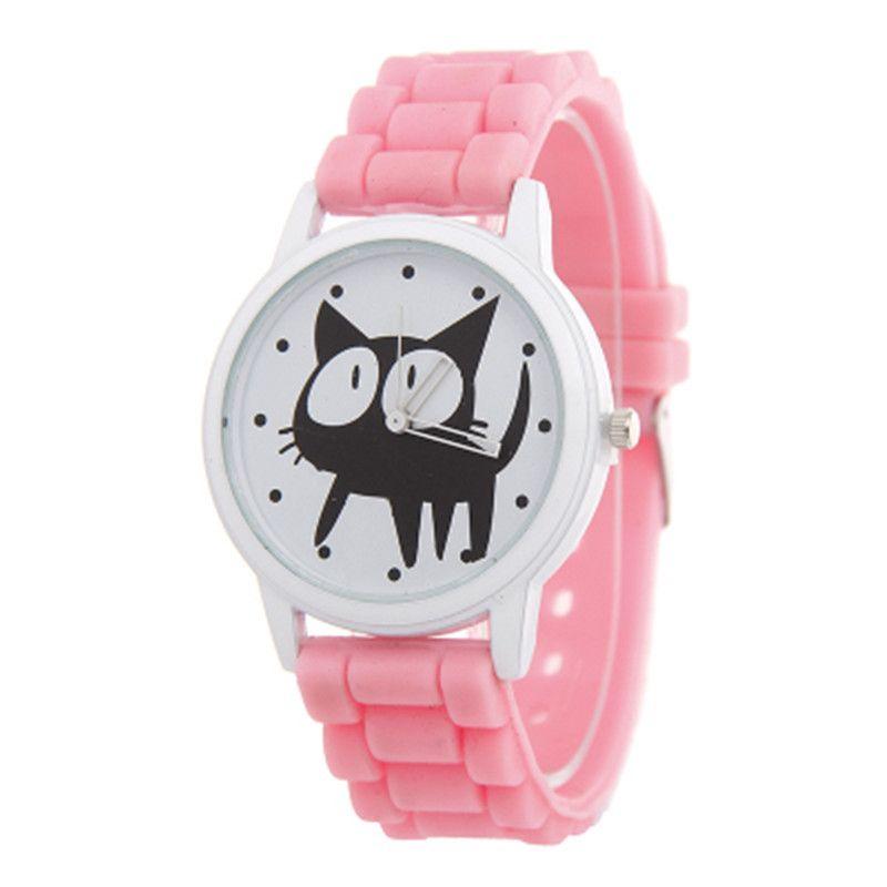 pour les enfants de femmes mouvement à quartz de silicone Kitty Cat Bracelet montres montre femme femme montre 2019 Saat reloj hombre
