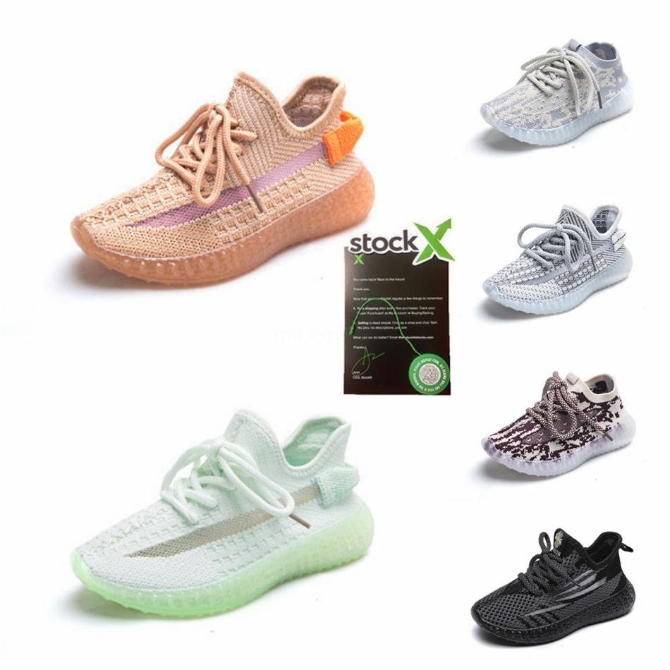 2020 zapatos de bebé para niños de arcilla V2 de los zapatos corrientes estáticas reflectante Niño Niña Kanye West Beluga 2.0 zapatillas de deporte del niño de los niños entrenador atlético Sh # 69