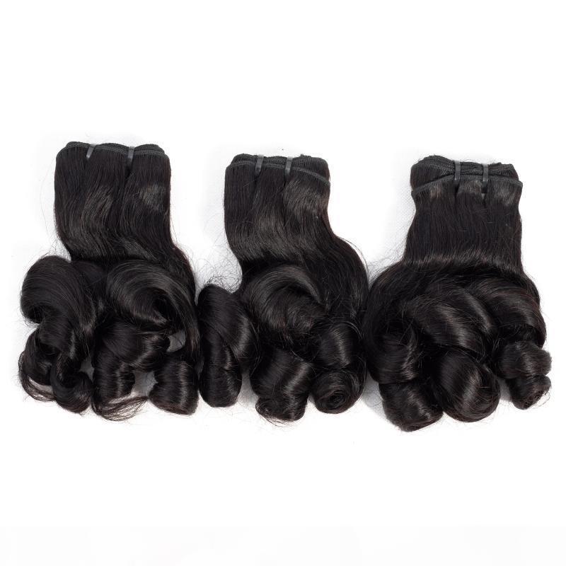 9 Фуне волосы Пучки Rose завитых девственницы бразильский индийский перуанский малазийский волос Пучки 10-20inch человеческих волосы Natural Color 3шт