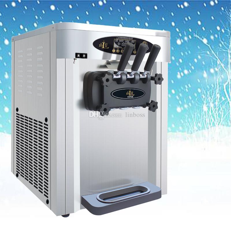 Tipo vendedor caliente de escritorio máquina barata helado suave / nuevo diseño de ahorro de energía de tres cabeza equipo de refrigeración