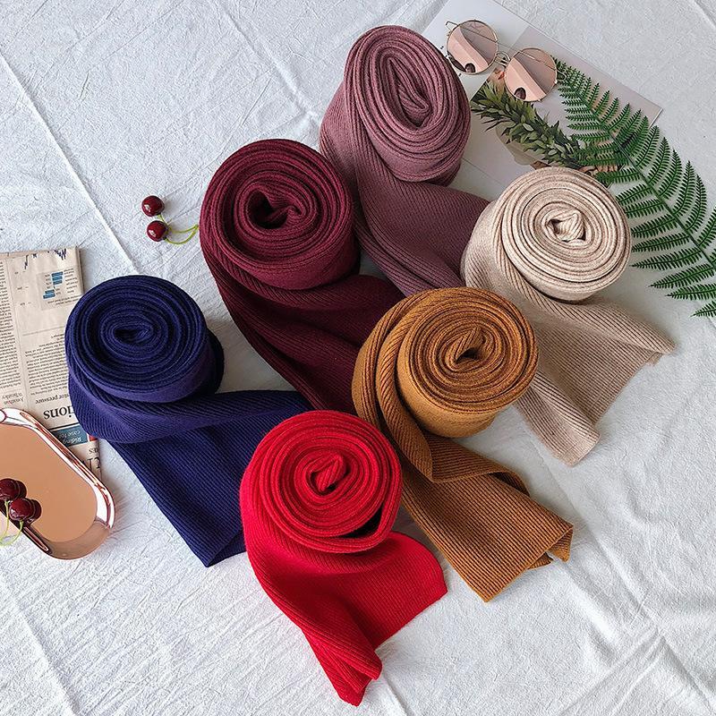 L'autunno e l'inverno lana paio sciarpa grande scialle uomini e donne modelli a duplice uso colore solido lunga sciarpa caldo di spessore