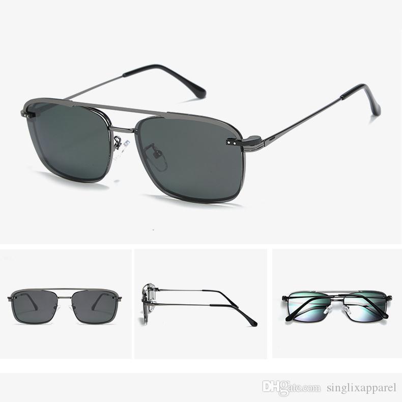 Polarizing Vintage Sunglasses Mens Alloy Frame Double Beam Vintage Sunglasses UK Fashion Eyeglasses Usa For Driving & Riding Native Sunglasses