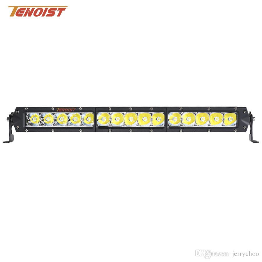New Super Bright 17.4 Inch 75W Front Bumper Grille LED Light Bar For Car SUV BUS Truck Offroad ATV UTV 12V 24V