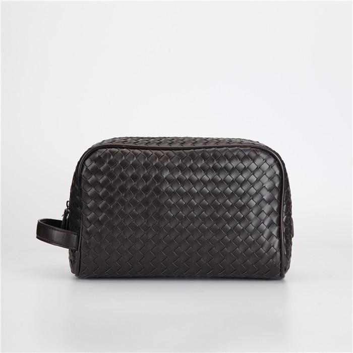 Dokuma erkek çantası Yeni Avrupa ve Amerikan moda debriyaj çanta erkek çanta yumuşak deri çanta büyük kapasiteli manşonlar