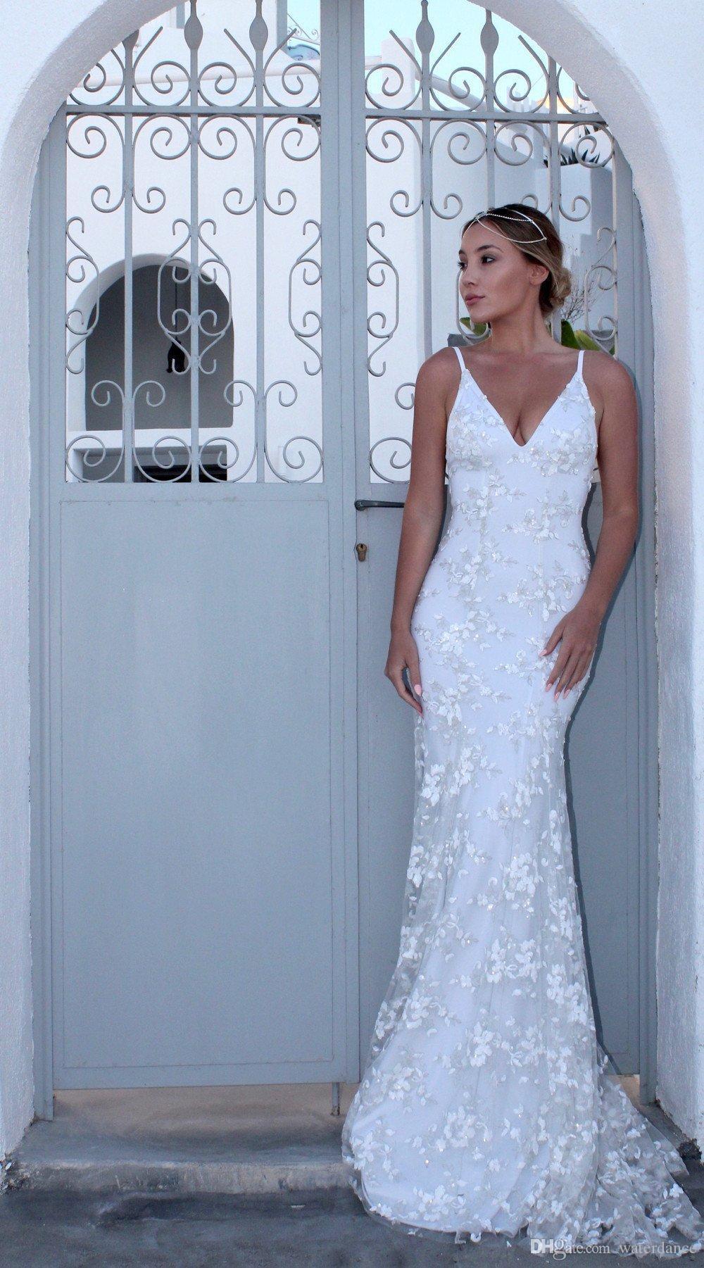 Nuevo vestido con cuello en V Sexy falda larga vestidos con tirantes vestido de mujer Bordado gasa vestido trapeado #uxury Diseñador fiesta escenario pasarela boda boda