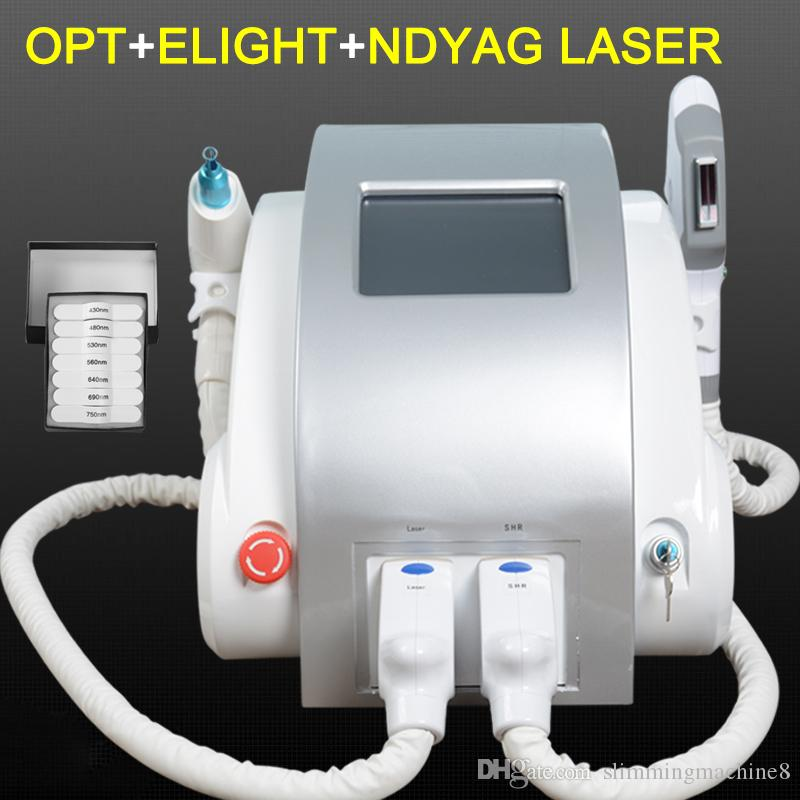 3 in 1 Laser IPL Permanent Hair Removal nd yag laser Freckle Acne Remove Machine Beauty Equipment