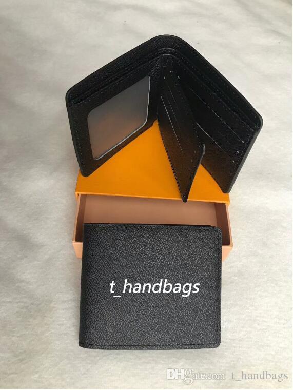 Homens de couro dos homens Bolsa 2020 homens com carteira de carteira para carteiras de marca homens envio com caixa de laranja Qarap