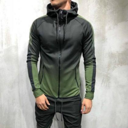 Erkek Lüks Casual Sport Stil Acitve Giyim Yüksek Kalite Erkek Tasarımcı Tişörtü Moda Hip Hop Coats Gradyan Giyim