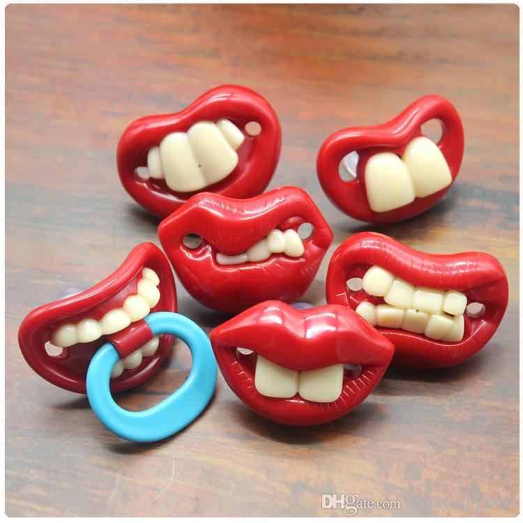 Carino divertente Denti Barba Baffi tettarella ortodontica manichino neonato Capezzoli gel di silice neonato Ciuccio 17 stili C648