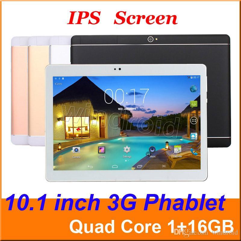 """Más baratos 10,1 10"""" MTK6582 Quad Core Android 5.1 WCDMA 3G desbloqueado llamada de teléfono de la tableta de la PC 1280 * 800 IPS pantalla de doble cámara de SIM 2G 1 GB 16 GB 32 GB"""