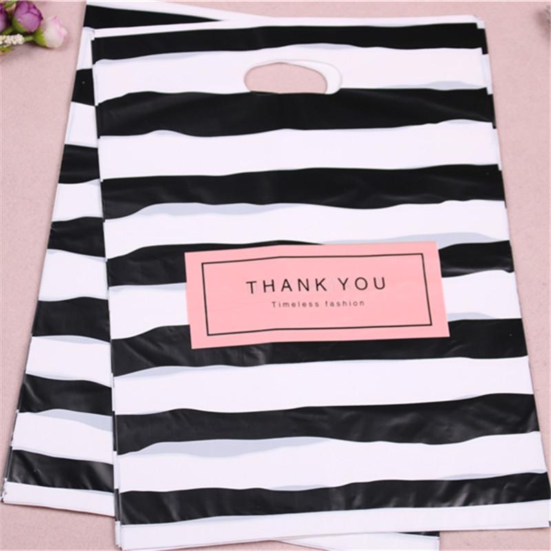 Fashion Wholesale 100pcs 35x45cm Sachet Plastic Zakjes per Abbigliamento con Sthe GRAZIE GRAZIE BAG BAGS