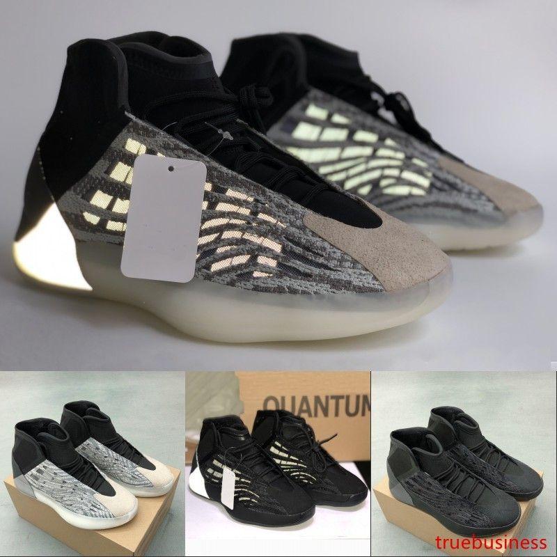 Reflectante 3M Quantum zapatos de baloncesto de triple Kanye West negro para hombre de alta calidad formadores mujeres del diseñador de moda de lujo zapatillas de deporte de Estados Unidos 5-12.5