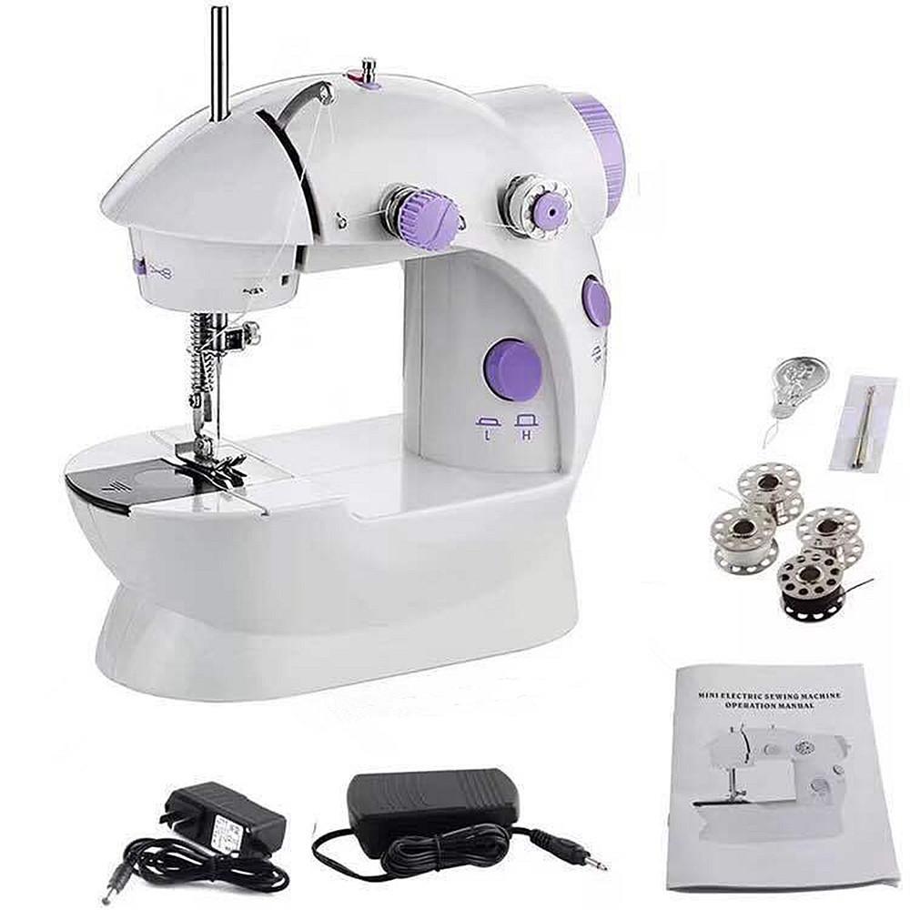 In Stock Mini Portable Handheld Sewing Machines Stitch Sew Needlework Cordless Clothes Fabrics Electric Sewing Machine Stitch Set 16