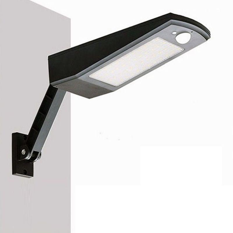 48 LED Güneş Hareket Sensörü Duvar Lambaları Ayarlanabilir Açı IP65 Su Geçirmez Açık Bahçe Sokak Gece Güvenlik Lambası Duvar Işıkları