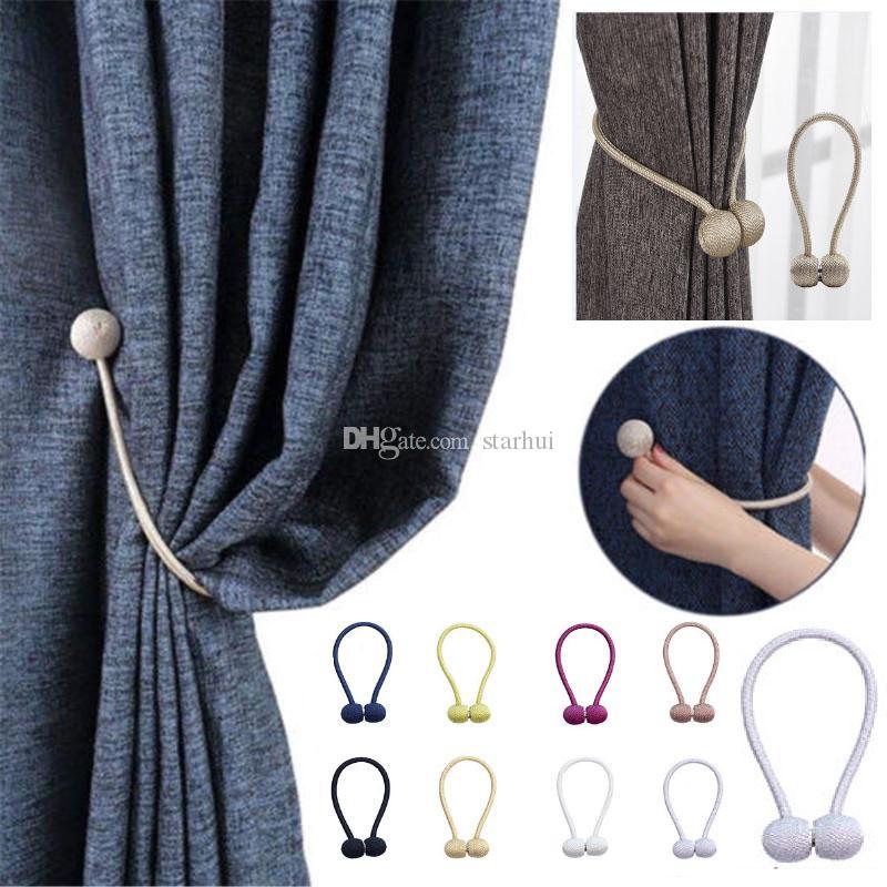 Mode Magnétique Rideau Embrasses Drapé Corde Holdbacks Pour boucle Sheer Panels Chambre Corde Sangle Décor À La Maison WX9-1331