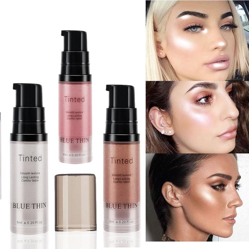 XY Fantasía cara de la manera de resaltado Contorno líquido Iluminador Brillo Maquillaje cosmético Shine líquido para la mujer / niñas