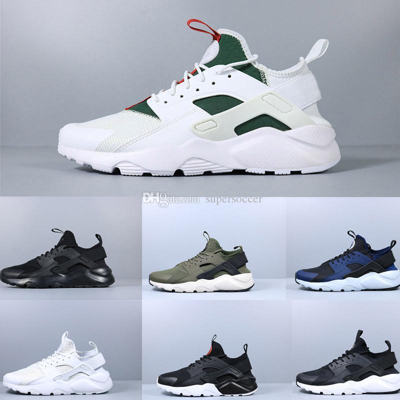 Billig Huarache 4 Klassik Alle weißen und schwarzen Huaraches Schuhe Männer Frauen Turnschuhe Laufschuhe Größe 36-45