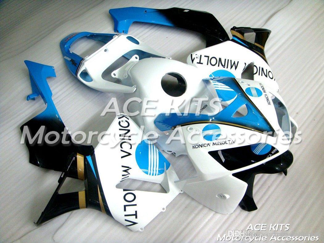 Crazy no.1 ACE KITS Carénage de moto pour HONDA CBR600RR F5 2005-2006 Carrosserie injection et compression merveilleux blanc noir + RÉSERVOIR NO.2500