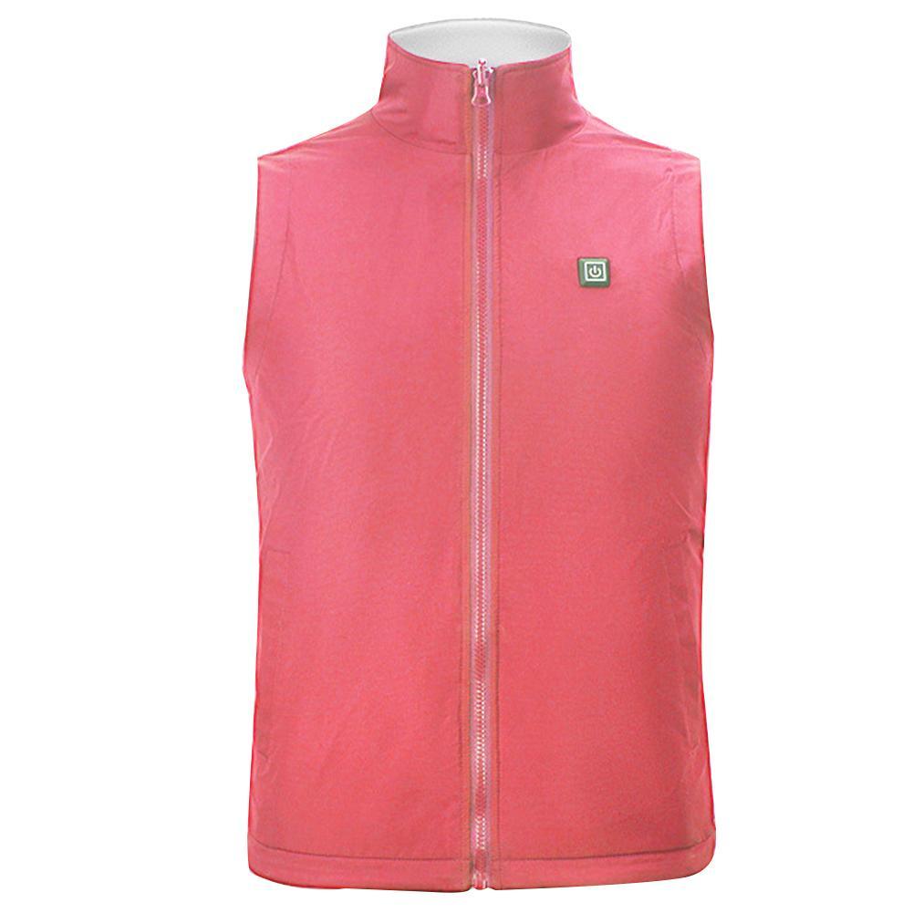 Thermal Waistcoat Carbon Fiber Men Women Winter Jacket Adjustable Temperature Soft Clothing Vest Electric Heating Solid Gift