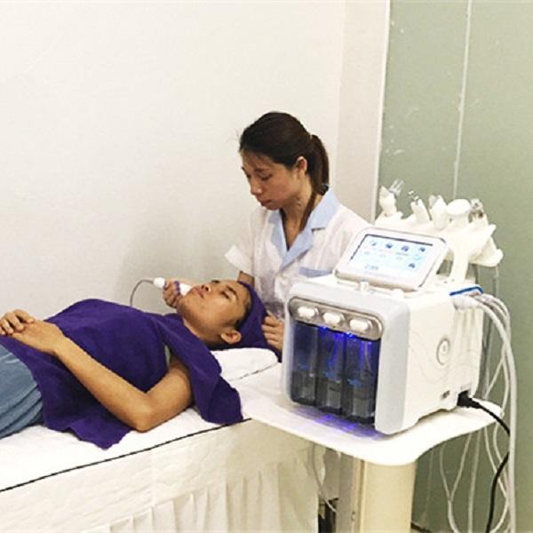 6 في 1 h2 o2 hydra الوجه الأكسجين جهاز تنظيف الوجه مع الوجه الحيوي رفع الجلد تجديد معدات تبييض التجميل