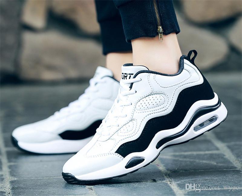 مع مصمم أحذية منصة Chaussures الأزياء صندوق السامي نوعية الرجال المدربين أبيض أسود حذاء رياضة رجل إمرأة الاحذية