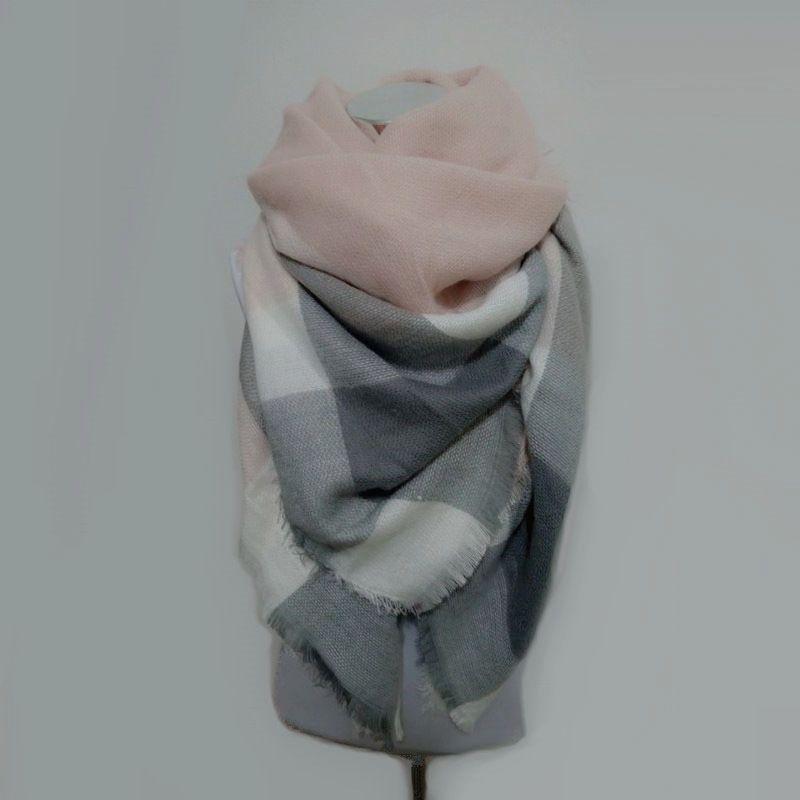 Za الشتاء وشاح الترتان وشاح المرأة منقوشة وشاح كوادروس جديد مصمم للجنسين أكريليك الأساسية شالات الدافئة bufandas بطانية الأوشحة