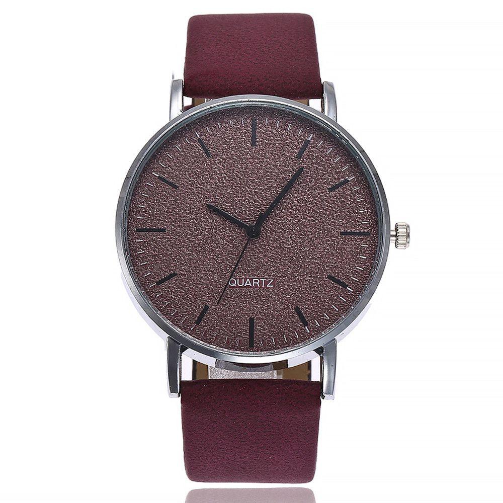 Moda Guarda donne quarzo delle donne di modo del cuoio 7 colori Grind orologio quadrante dell'orologio da polso