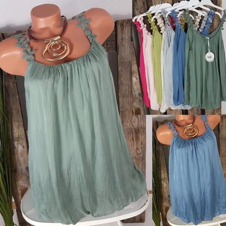 Más tamaño Minivestido Sling de encaje Vestido sexy plisado Verano Vestido corto Color sólido 7 Color S-5XL