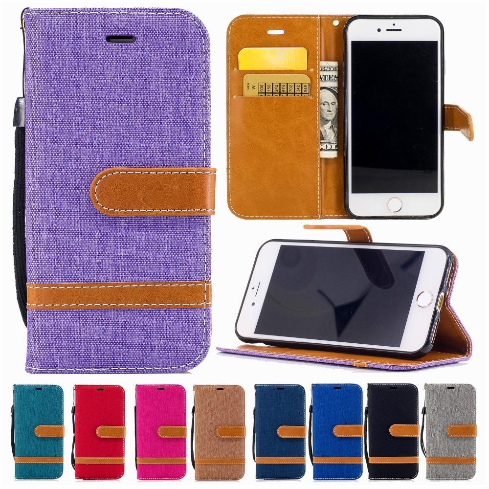 Cas de téléphone de luxe en cuir portefeuille pour Iphone X Xs Max Xr 6 6 s plus 7 8 plus cas de couverture de carte Flip Cover pour iphone 5s se téléphone sac