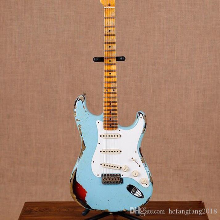 لا تزال صناعة يدوية جديدة ST الغيتار الكهربائي الغيتار جون Masterbuilt الصليب جون ماير. gitaar ستراتوكاستر الاثار يد