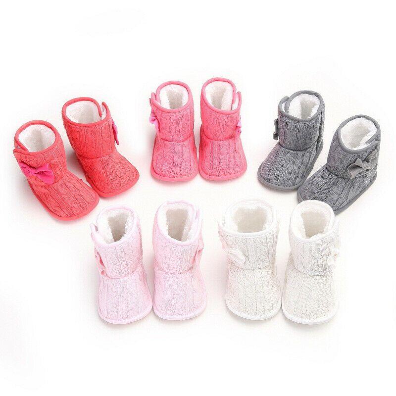 Mode Nouveau-né Bébé enfant en bas âge Filles Bottes Tricoté Anti-Slip chaud Chaussons Lit coton doux Chaussures