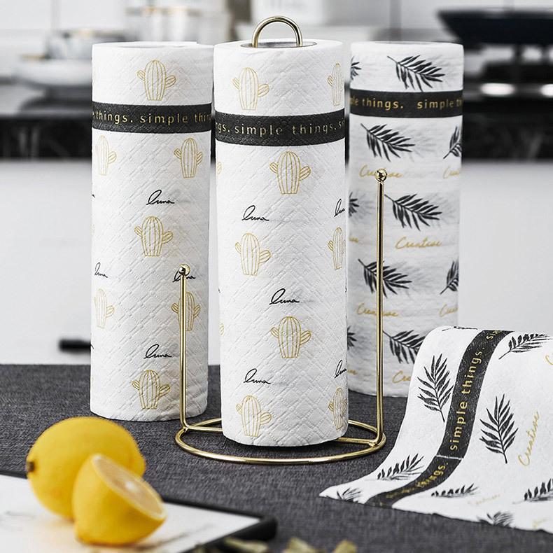 Descartável Cozinha Óleo de absorção de papel de limpeza preguiçoso Rags, toalhas de mão, panos de prato lavável, panos de prato, cozinha e jardim XD23347