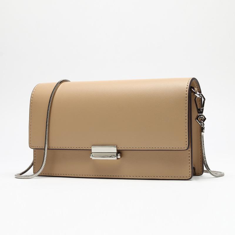 Charm2019 إنس جلد طبيعي حزمة سلسلة حقيبة امرأة قفل اقبض