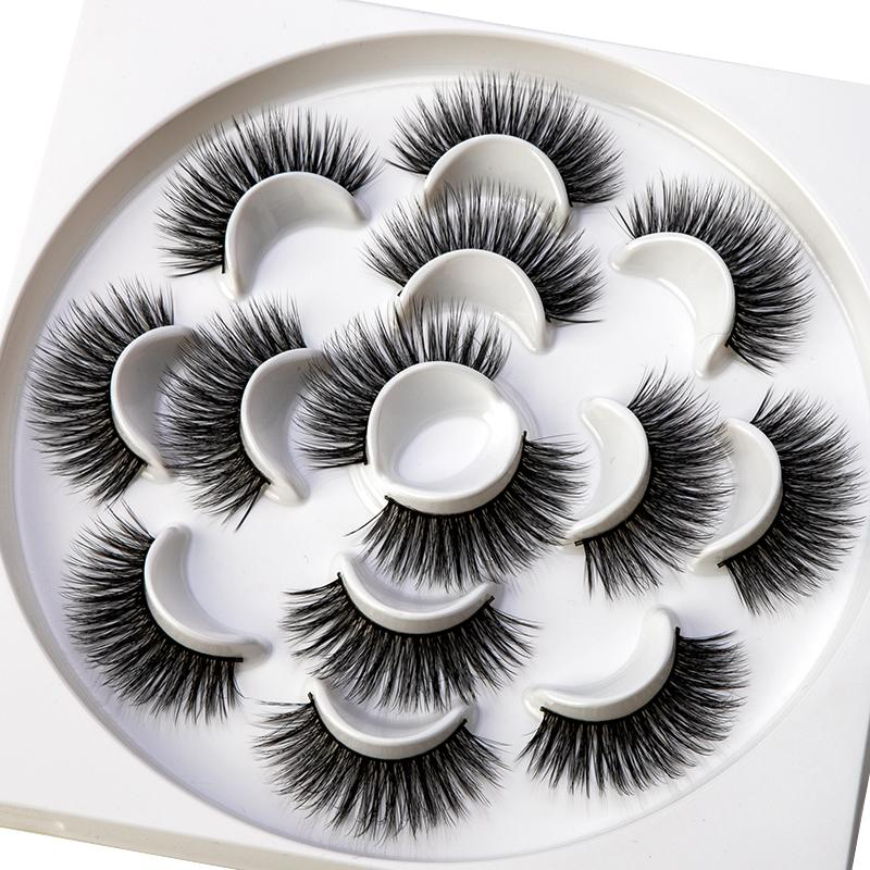 7 Pairs/box Natural 3d 2019 False Eyelashes Long Thick Volume Fake Eyelashes Extension Makeup Eyelash Tool Kit