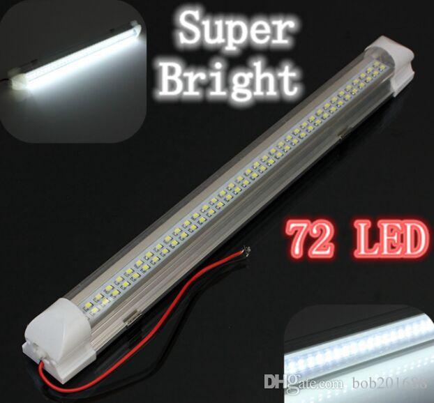 Universal Car Auto Caravan Interior 72 LED White Light Strip Lampada interruttore ON / OFF