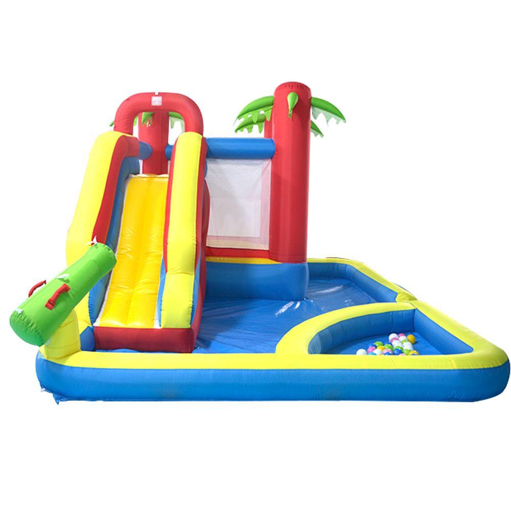 1 Su Parkı Bouncy içinde YARD Fabrikası Şişme Bouncy Castles Slaytlar Havuzu 3
