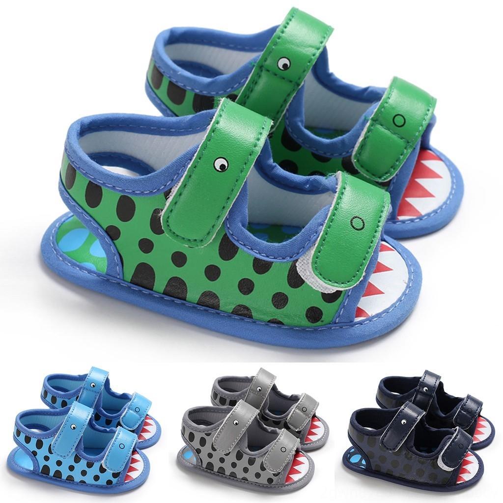 2020 Yeni Bebek SummerShoes Bebek Bebek Kız Erkek Sandalet Karikatür Hayvan Yumuşak Sole Firstwalk Sandalet Ayakkabı Sandalia InfantilC1