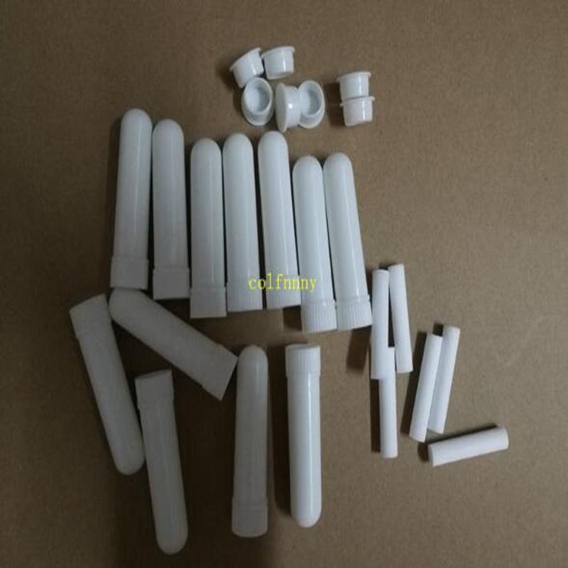 1000sets / 많은 핫 판매 빈 코 흡입기 스틱, 플라스틱 빈 아로마 코 흡입기 DIY 에센셜 오일에 대한