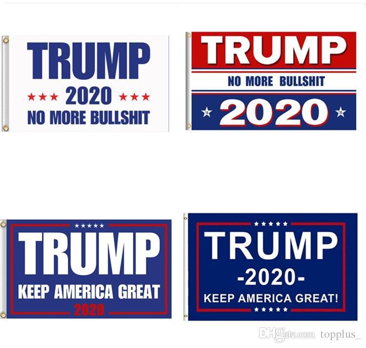 Prix le plus bas Trump 2020 Flag 5 Styles Drapeaux Donald Keep America Great Encore une fois Polyester Décor bannière pour le président USA