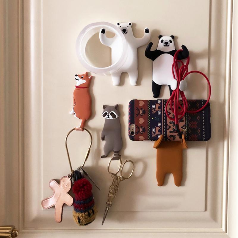 Rimovibile Cucina Ganci animale bello frigorifero gancio chiave parete Crochet muro portachiavi supporto può Lavato decorazione della casa