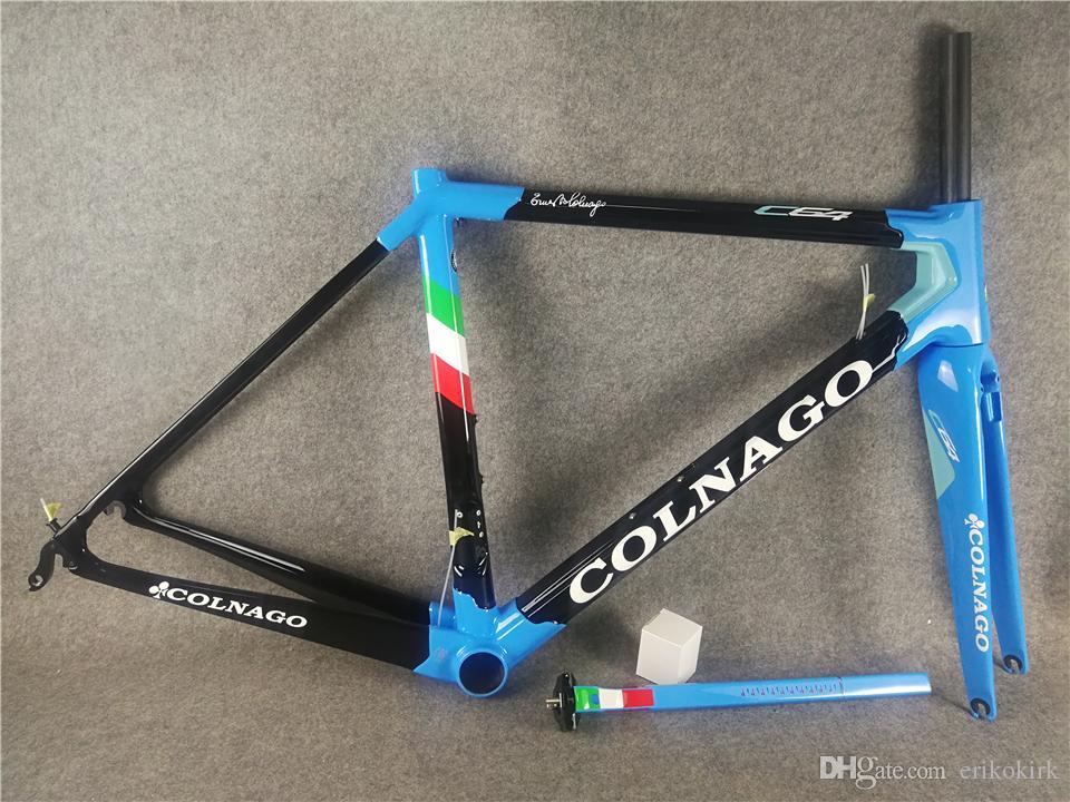 Colnago C64 Blue Road Vélo Cadre Glossy Finition Cadre de vélo de carbone Di2 et mécanique