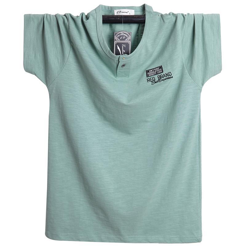 Homens 6xl linho 5xl tamanho masculino verão nova marca respirável mais manga curta xxxxl t-shirt algodão t camisa solta 2020 moda dfvhr