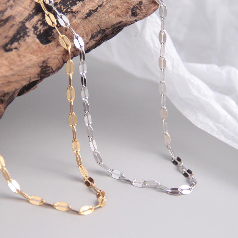 1pc 100% de prata esterlina 925 Authentic Tile Cadeia gargantilha curta Colar TLX704 pingente de multa