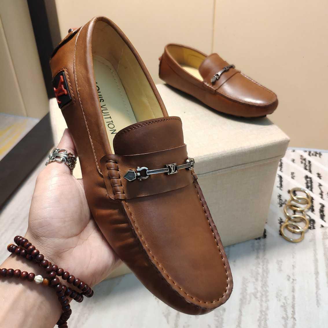 Весна и осень новые простые бобовые туфли, мокасины для мужчин, водители, корейское издание, слип-на